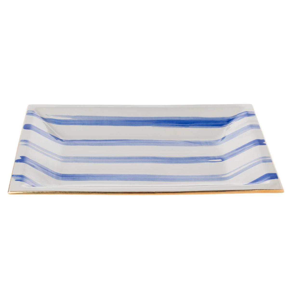 Cobalt Speedy Stripe Caviar Tray