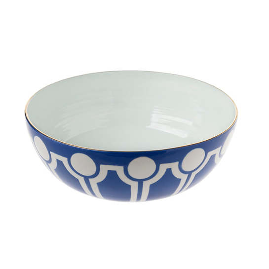 Cobalt Versailles Low Large Round Bowl
