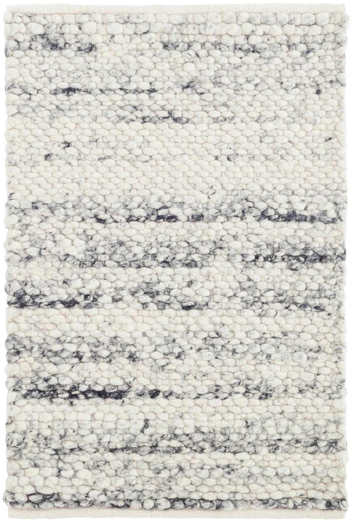Cobblestone Grey Woven Wool Rug