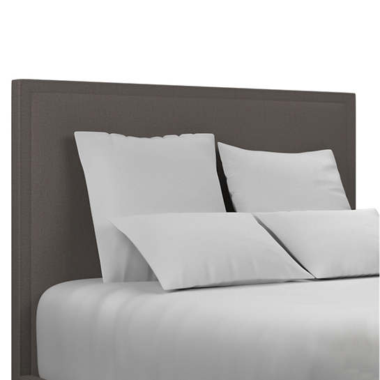Canvasuede Charcoal Colebrook Smoke Headboard