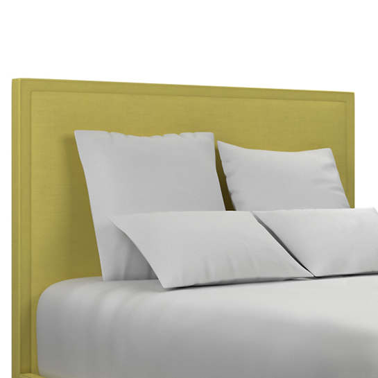 Estate Linen Citrus Colebrook Smoke Headboard