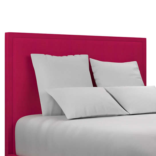 Estate Linen Fuchsia Colebrook Smoke Headboard