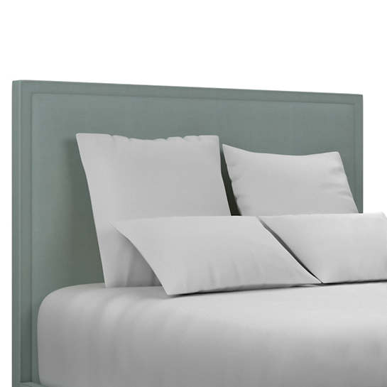 Estate Linen Sky Colebrook Smoke Headboard
