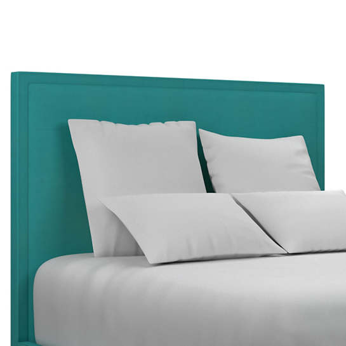 Estate Linen Turquoise Colebrook Smoke Headboard