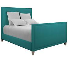 Estate Linen Turquoise Colebrook Whitewash Bed