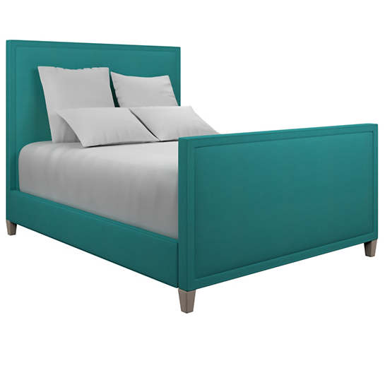 Estate Linen Turquoise Colebrook Whitewash Bed