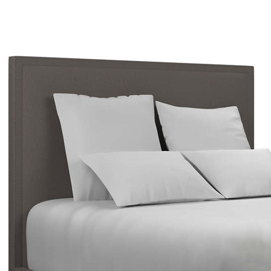 Canvasuede Charcoal Colebrook Whitewash Headboard