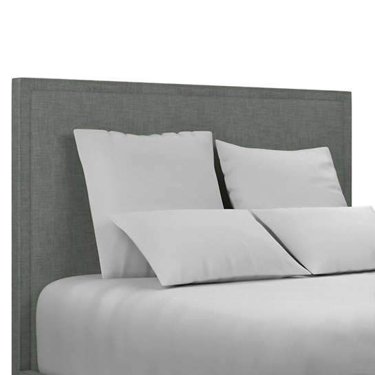 Canvasuede Ocean Colebrook Whitewash Headboard