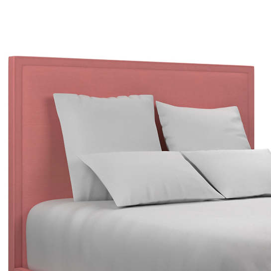 Estate Linen Coral Colebrook Whitewash Headboard