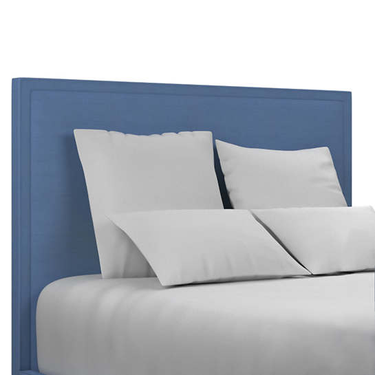 Estate Linen French Blue Colebrook Whitewash Headboard