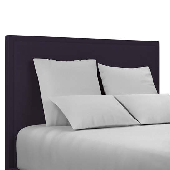Estate Linen Indigo Colebrook Whitewash Headboard