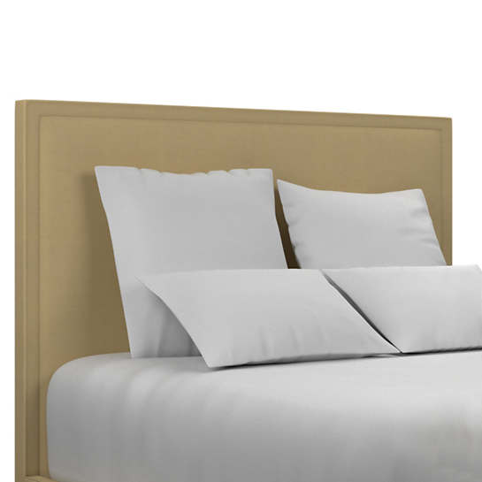 Estate Linen Wheat Colebrook Whitewash Headboard