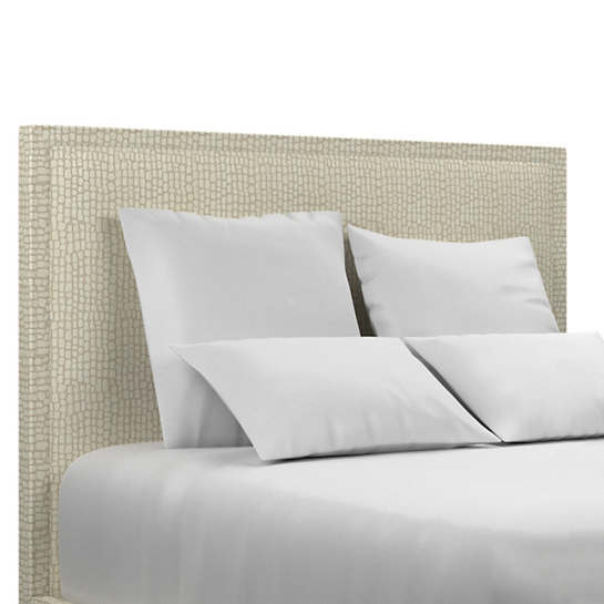 Pebble Ivory Colebrook Whitewash Headboard
