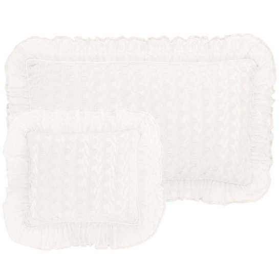 Colette Lace Ivory Decorative Pillow