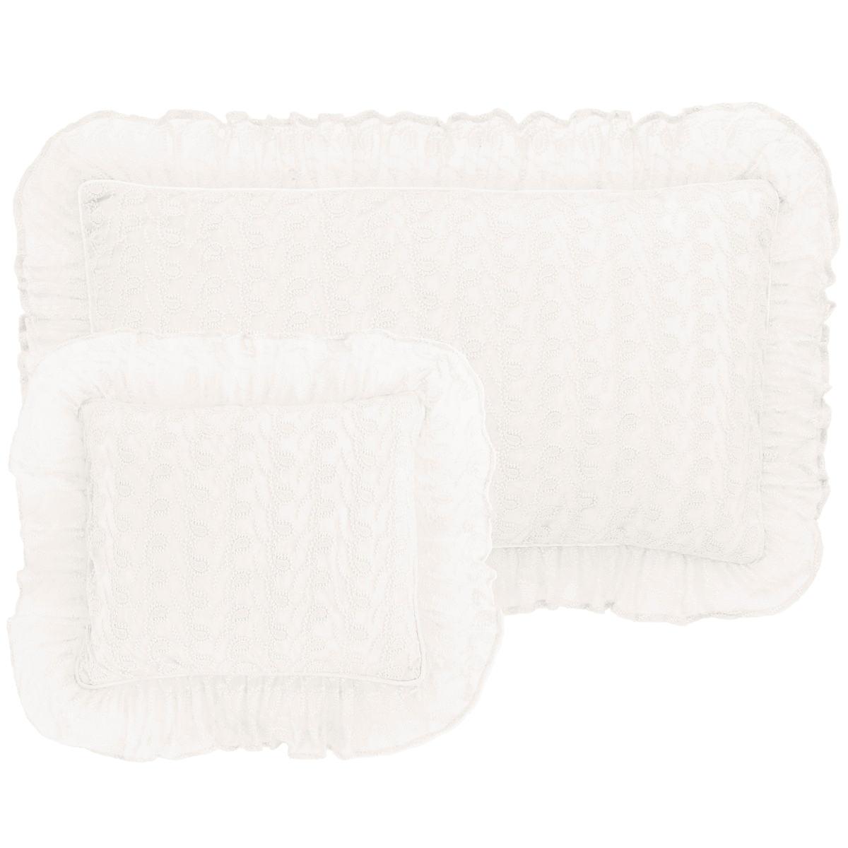 Colette Lace Ivory Decorative Pillow