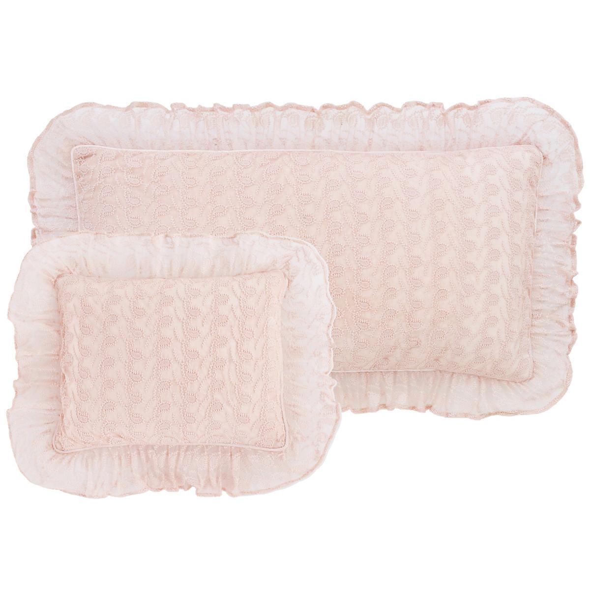 Colette Lace Slipper Pink Decorative Pillow