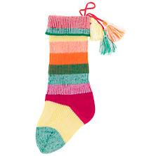 Colorful Stripe Knit  Stocking