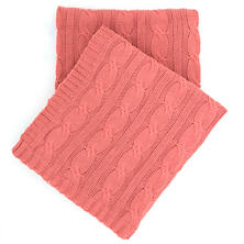 Comfy Cable Knit Coral Throw