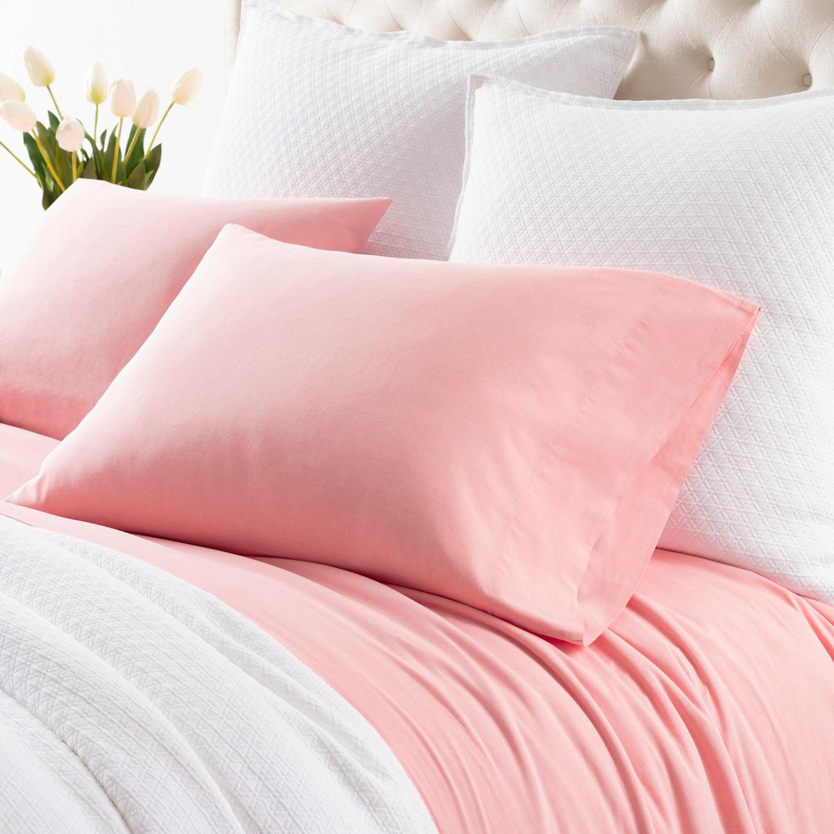 Comfy Cotton Coral Pillowcases