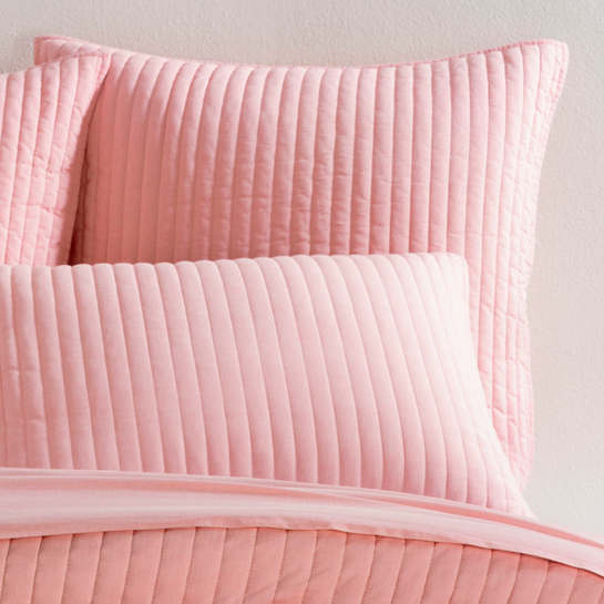 Comfy Cotton Coral Quilted Sham