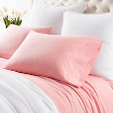 Comfy Cotton Coral Sheet Set