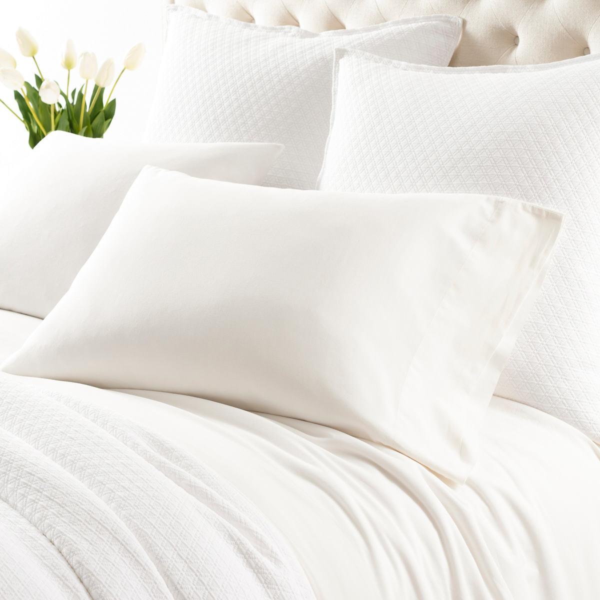 Comfy Cotton Dove White Pillowcases