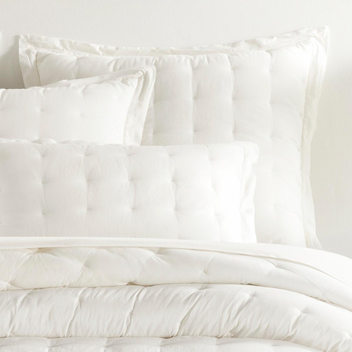 Comfy Cotton Dove White Puff Sham
