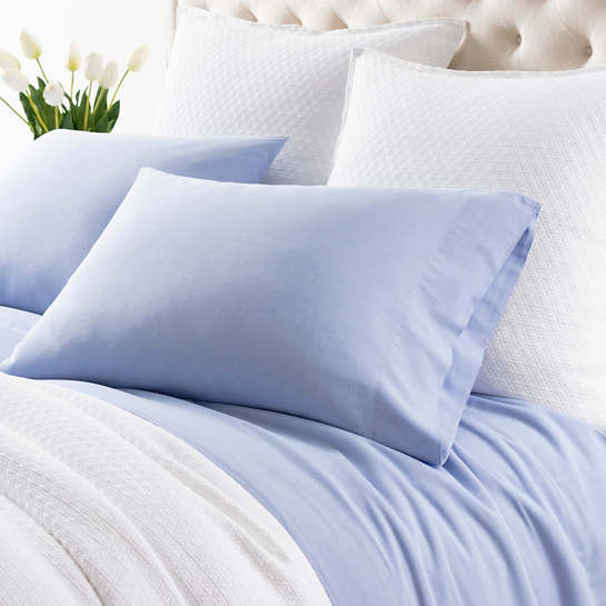 Comfy Cotton French Blue Pillowcases