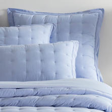 Comfy Cotton French Blue Puff Sham