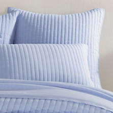 Comfy Cotton French Blue Quilted Sham