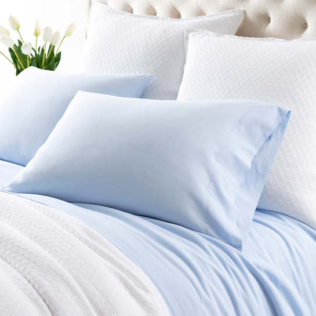 Comfy Cotton Soft Blue Pillowcases