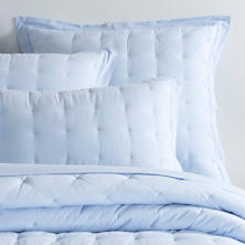 Comfy Cotton Soft Blue Puff Sham