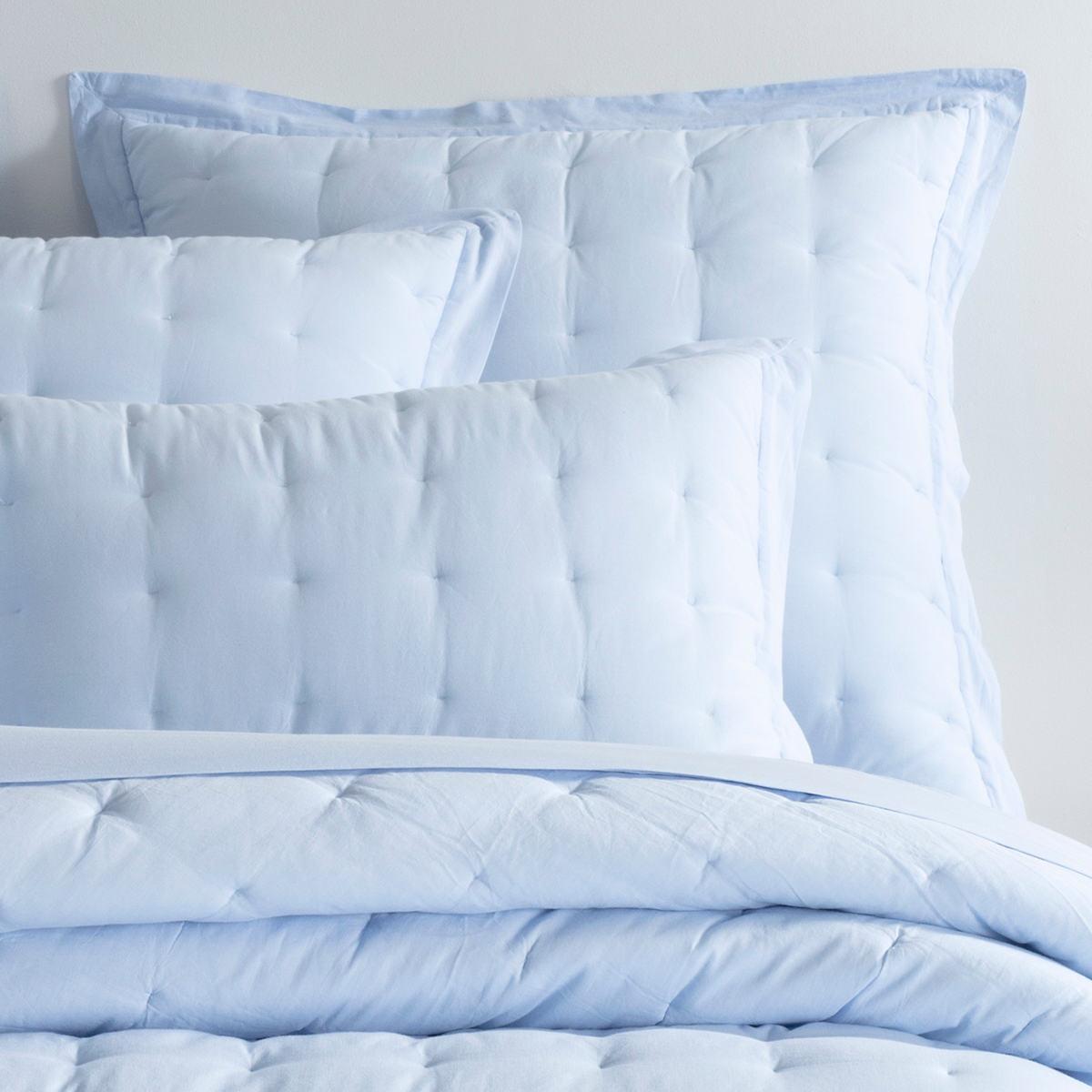 Comfy Cotton Soft Blue Puff Sham