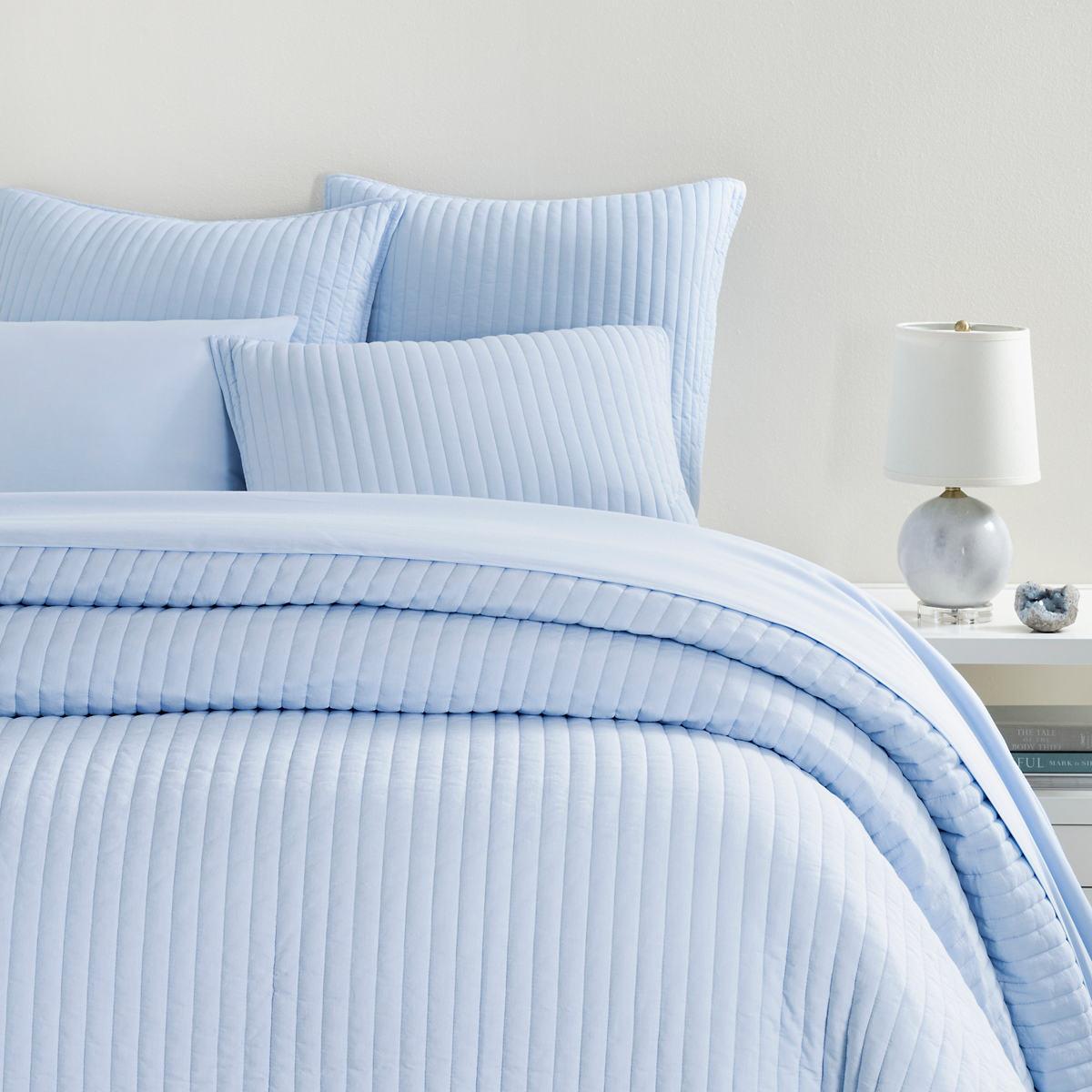 Comfy Cotton Soft Blue Quilt