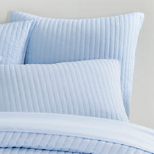Comfy Cotton Soft Blue Quilted Sham