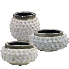 Concrete Pebble Pots/Set Of 3