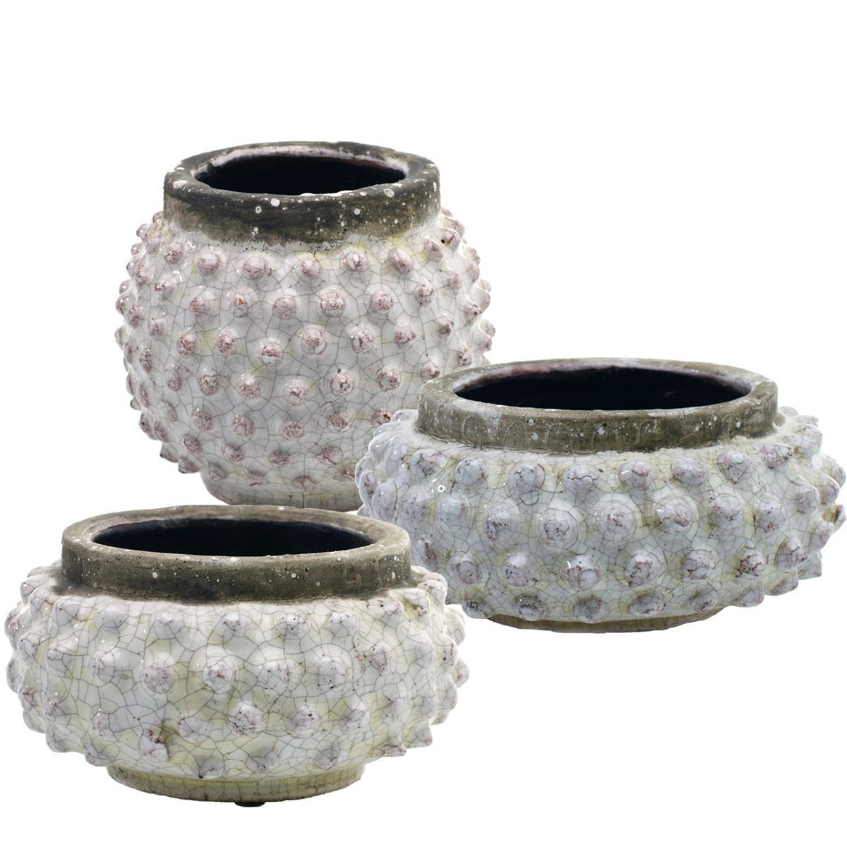 Concrete Pebble Pots/Set Of 3