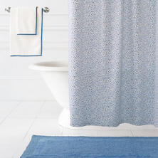 Confetti French Blue/Indigo Shower Curtain