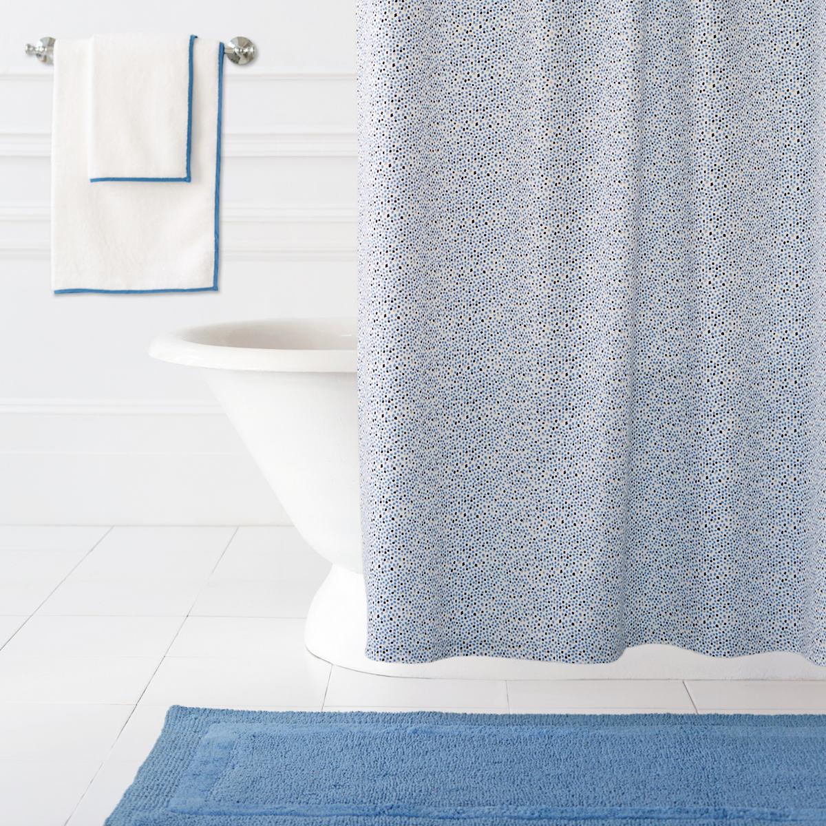 Confetti French Blue Indigo Shower Curtain