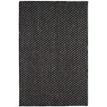 Corden Charcoal Woven Sisal Custom Rug With Pad