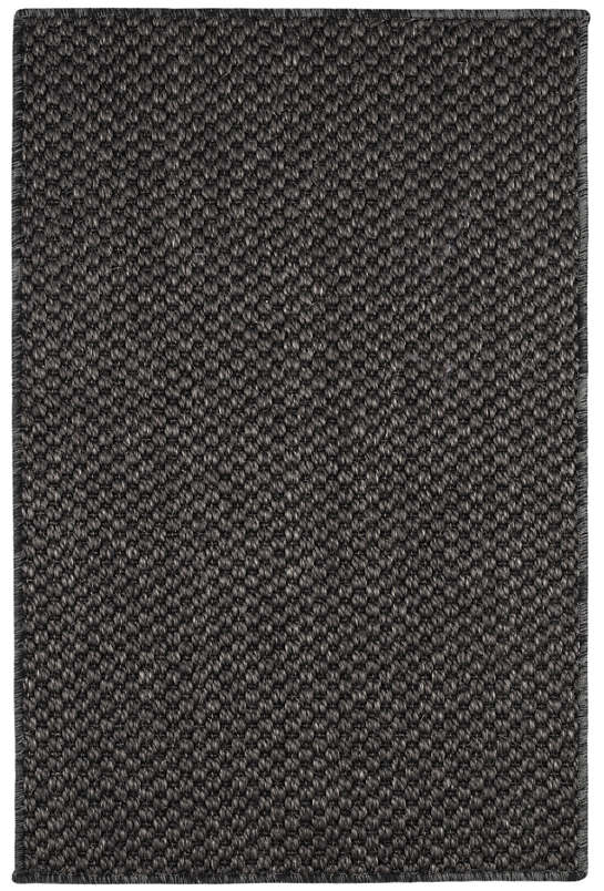 Corden Charcoal Woven Sisal Custom Rug With Pad