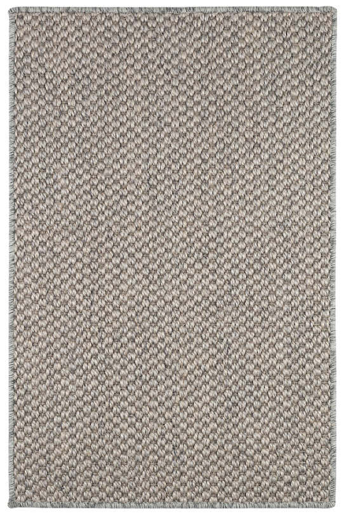 Corden Silver Woven Sisal Custom Rug With Pad
