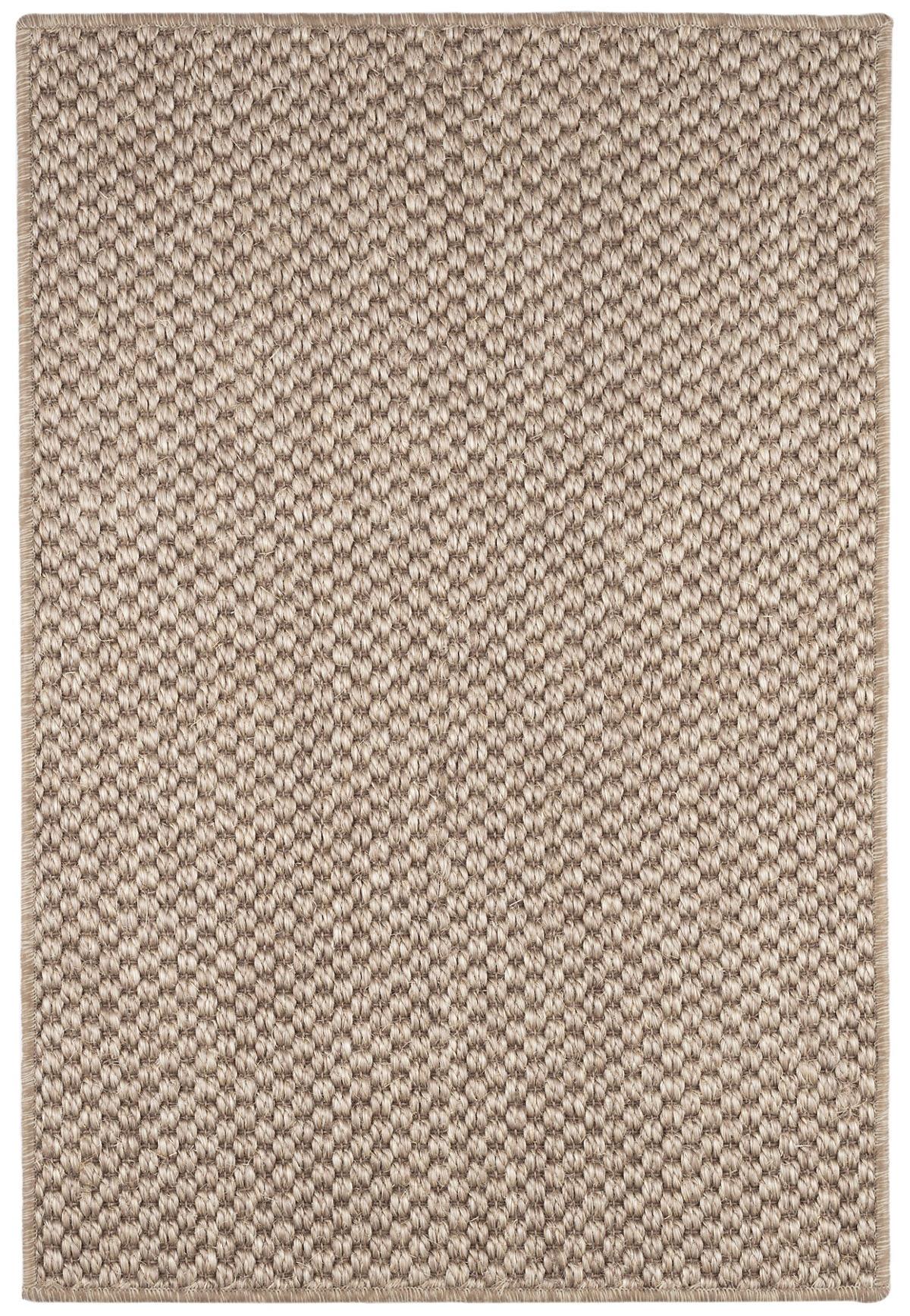 Corden Taupe Woven Sisal Custom Rug With Pad