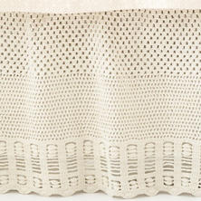 Corossol Crochet Ivory Bed Skirt