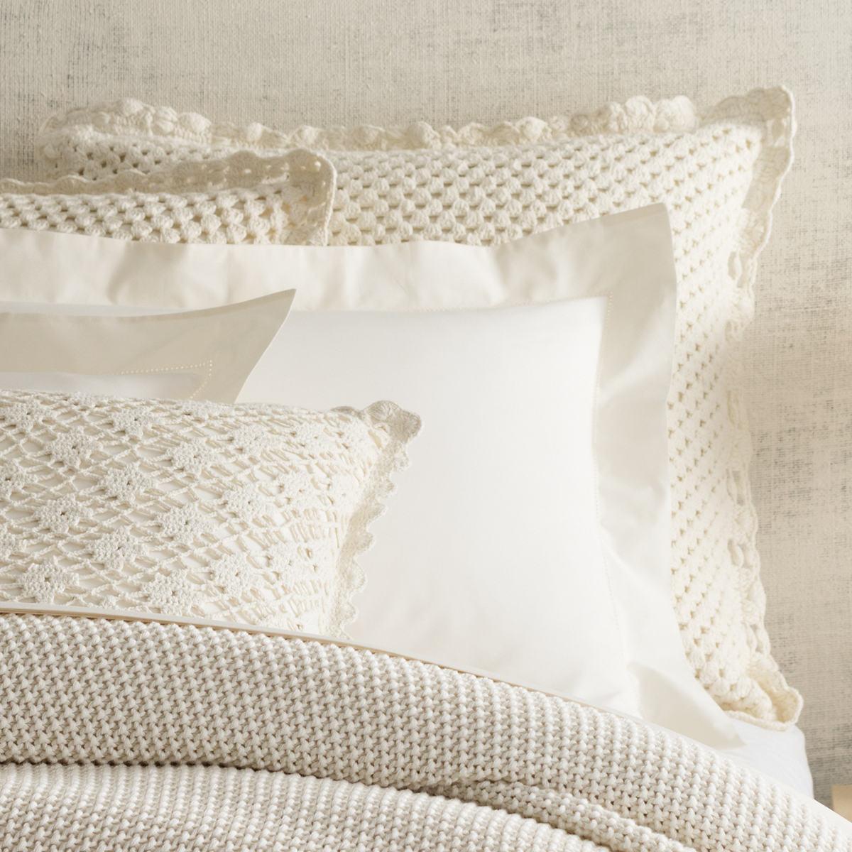 Corossol Crochet Ivory Sham