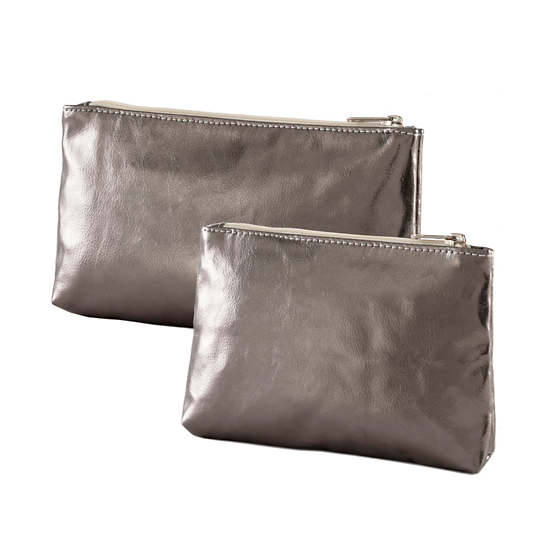 Cosmo Pewter Organizer Pouch/Set of 2