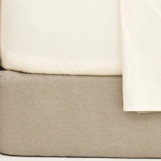 Cotton Twill Oatmeal Box Spring Cover