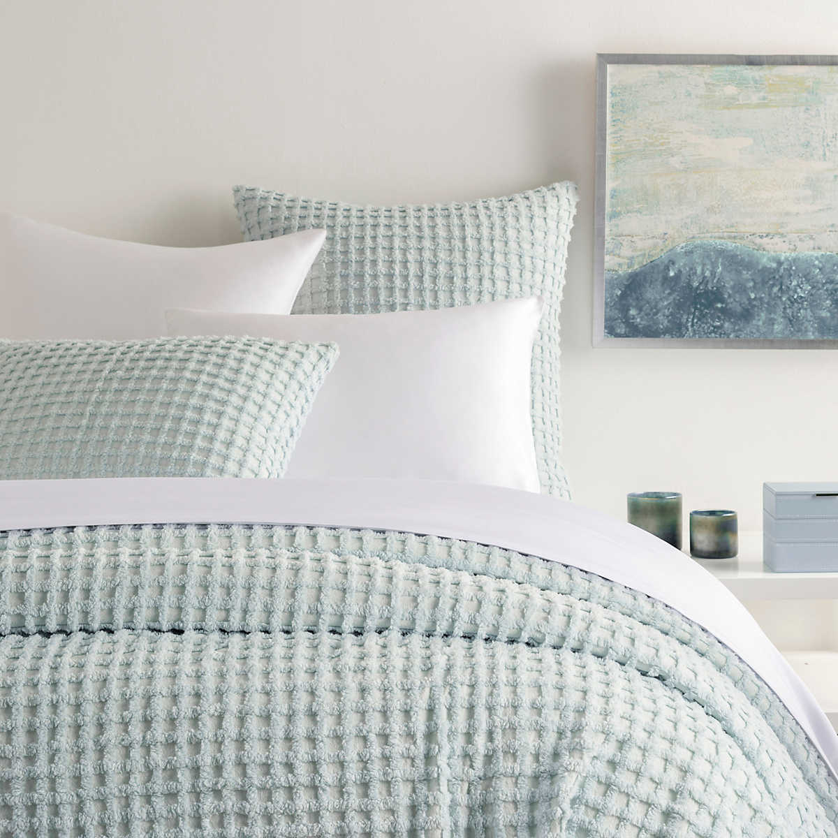 Gridwick Robin S Egg Blue Coverlet Pine Cone Hill