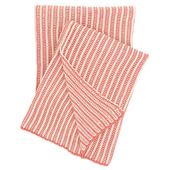 Cozy Knit Coral Throw