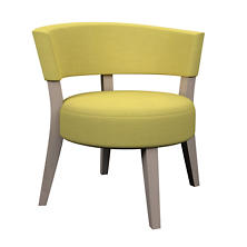Estate Linen Citrus Crescent Chair